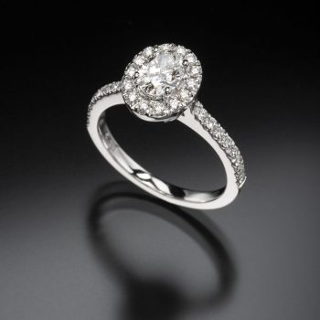 White Gold Oval Diamond Engagement Ring   Arnold & Co Jewellers Canberra